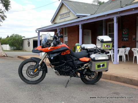 The F800GS kitted up for travel