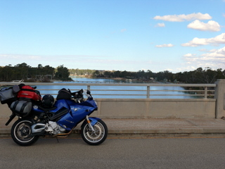 Crossing the Murray near Blanchetown