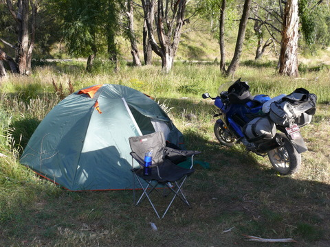 Camping on the Goodradigbee River