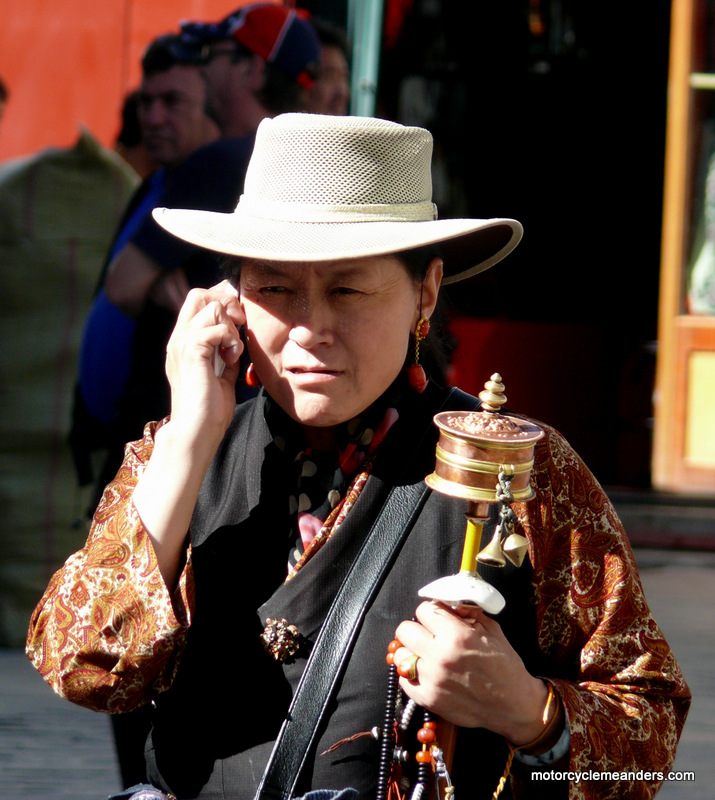 Pilgrim in Lhasa-phone takes precedence