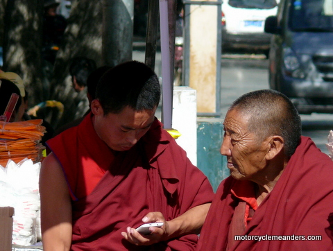 Monks in Shigatse
