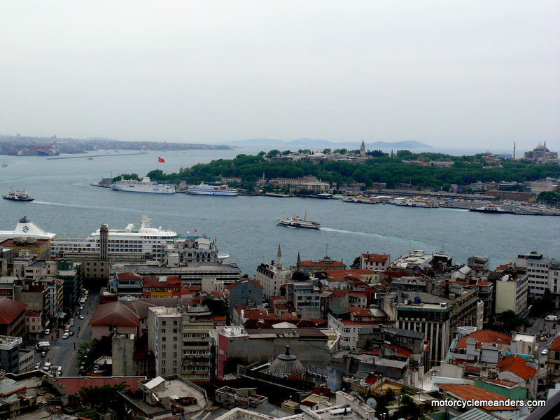 The Golden Horn flows into the Bosphorus