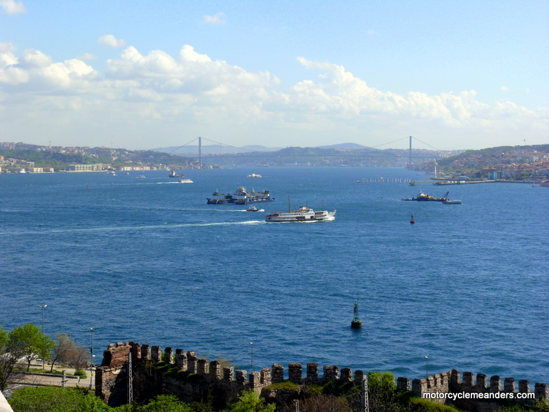 Bosphorus looking north from Istanbul