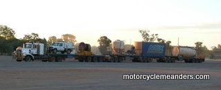 Road train at B and W roadhouse